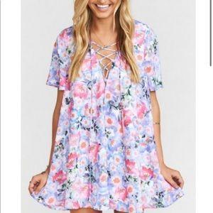 Show Me Your Mumu Kylie lace up dress